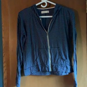 Girls, Abercrombie kids zip up, hooded. Size Large